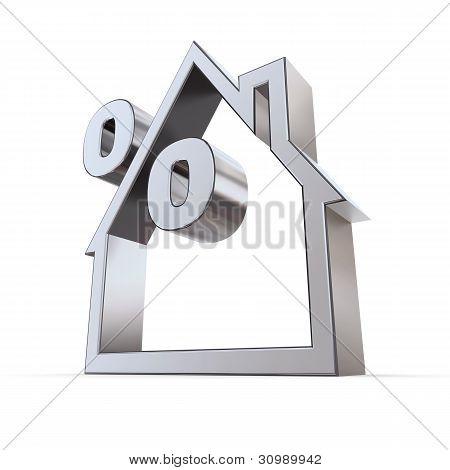 Símbolo de porcentagem em uma casa