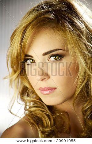 Gorgeous Blond Model With Amazing Eyes