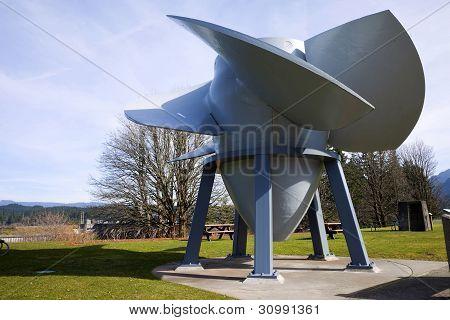 An Old Turbine Propeller, Bonneville Or.