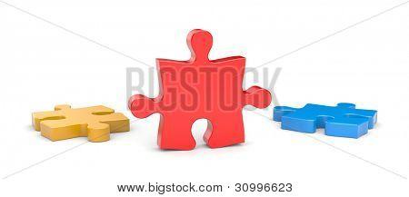 Jigsaw puzzles. Success metaphor