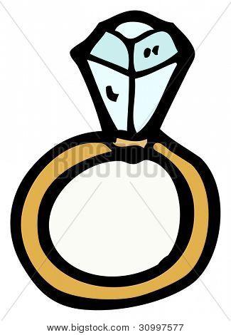 "Diamantring gezeichnet  Diamant-Ring-cartoon"" Stockfotos & Stockbilder | Bigstock"