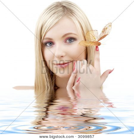 Butterfly Blonde In Water