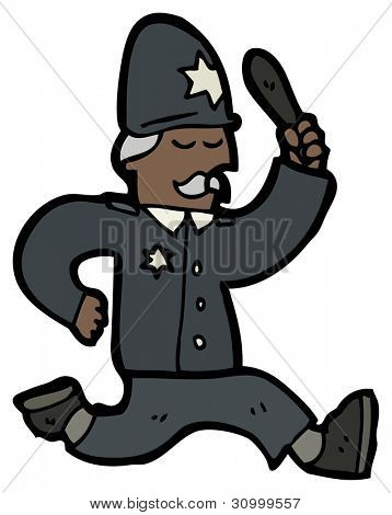 cartoon policeman chasing
