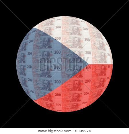 Czech Flag Currency Button