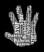 Stop Diabetes Sign in word collage
