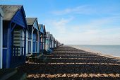 stock photo of herne bay beach  - Beach Huts at Herne Bay in Kent - JPG