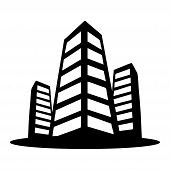 Buildings Icon Isolated On White Background From Business Administration Collection. Buildings Icon  poster