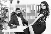 Modern Business Couple Working In Modern Office. Businesspeople. Formal Fashion Dress Code. Business poster