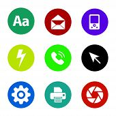 Icon Pack. Aa Text Icon, Mail Icon, Media Player Icon, Lighting Icon, Phone Icon, Arrow Cursor Icon, poster