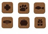 pic of bag-of-dog-food  - Pet shop wooden icons set - JPG