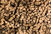 Woodpile Background Yellow poster
