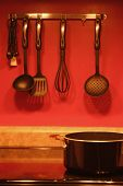 stock photo of kitchen utensils  - utensils in the kitchen - JPG