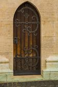 Budapest, Hungary: Beautiful Door. Matthias Church Is A Roman Catholic Church Located In Budapest poster