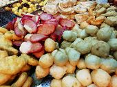 Abstract Blur. Fried Food Street Food Shop. Many Fried Food Fried Food Street Food Shop. Along The R poster