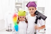We hate these cleaning up days - upset kids in their room