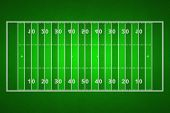 Top Views Of American Football Field. Green Grass Pattern For Sport Background. Ragby Football Field poster