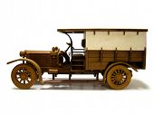 picture of delivery-truck  - Wooden model of an old - JPG