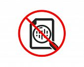 No Or Stop. Diagram Chart Icon. Analytics Graph Sign. Market Analytics Symbol. Prohibited Ban Stop S poster