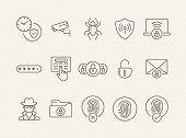Identification Line Icons poster