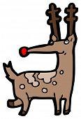 picture of rudolf  - rudolf reindeer cartoon - JPG