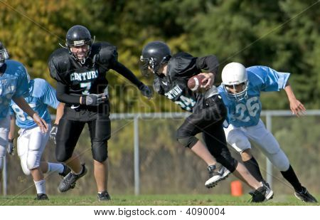 Youth Football Ready For The Tackle