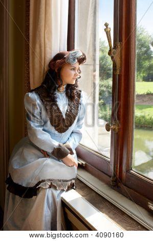Lady im Schloss