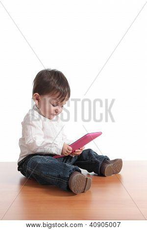 Baby With A Tablet Pc