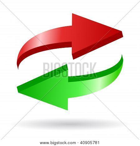 Setas recarregar ícone vector