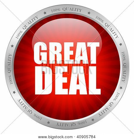 Great deal icon, vector illustration