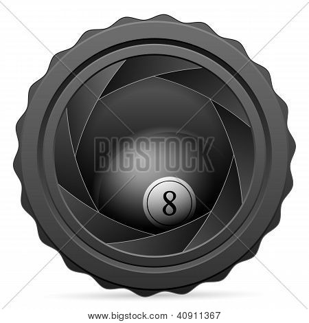 Camera Shutter With Billiards Ball