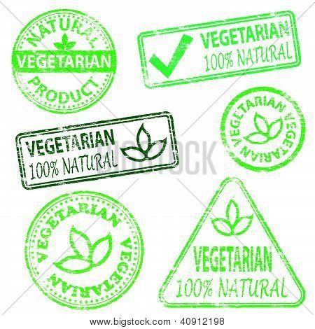 Sellos vegetarianas