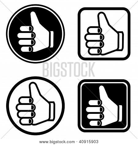 Vector Thumb Up Icons