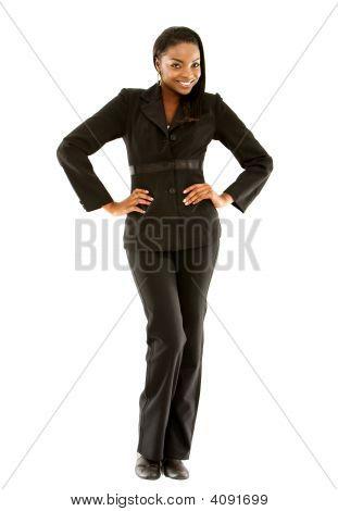 Mulher de negócios, levantando-se