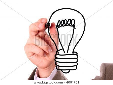 Hand And Light Bulb