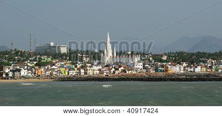 Southernmost Point Of India. Comorin Or Kanyakumari, Tamilnadu, India.