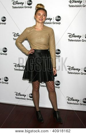 LOS ANGELES - JAN 10:  Allie Gonino attends the ABC TCA Winter 2013 Party at Langham Huntington Hotel on January 10, 2013 in Pasadena, CA