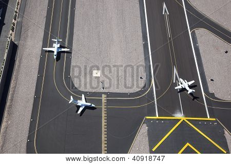 Planes Ready For Take Off