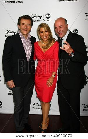 LOS ANGELES - JAN 10:  Robert Herjavec, Lori Grenier, Kevin O'Leary attends the ABC TCA Winter 2013 Party at Langham Huntington Hotel on January 10, 2013 in Pasadena, CA
