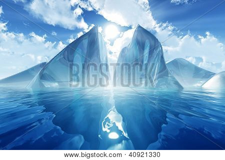 Iceberg In Calm Sea