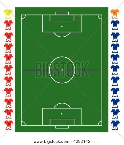 Tablero táctico de fútbol echada