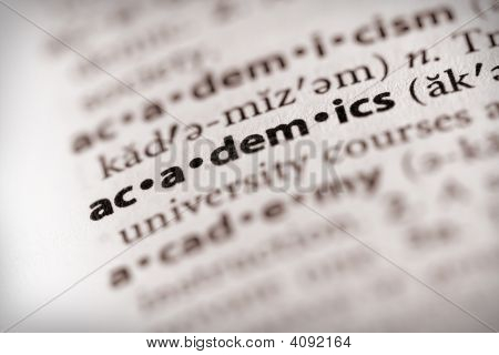 Dictionary Series - Information: Academics
