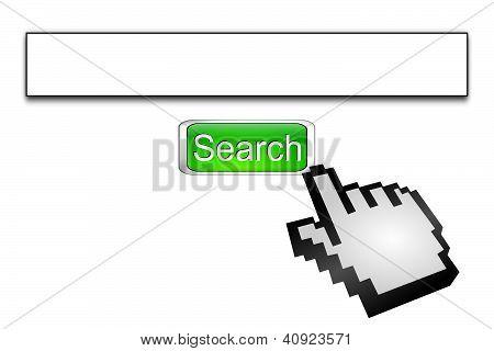 Internet web search engine
