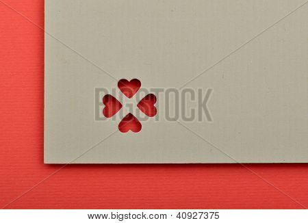 Blank Valentine Card. Write Your Own Text.
