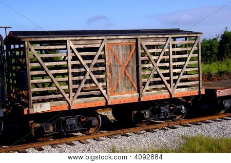 Antique Wooden Box Car