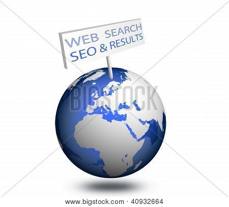 Web search engine seo optimization results