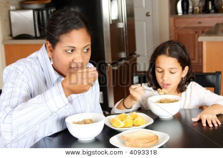 Family Eating Breakfast