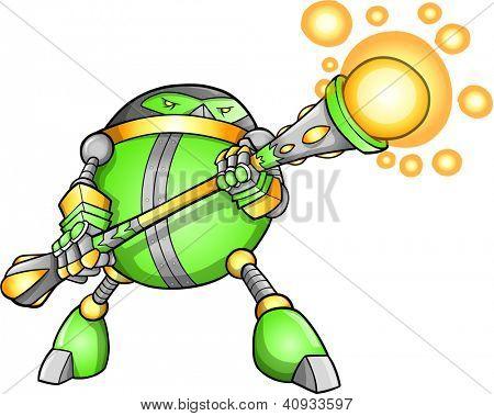 Guerreiro soldado robô Alien Cyborg Vector
