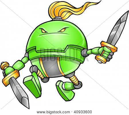Warrior Ninja Cyborg Soldier Vector