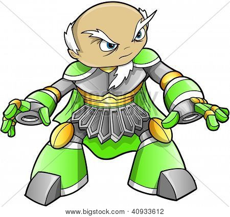 Warrior Ninja Soldier Alien Cyborg Vector