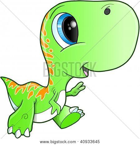 Cute Tyrannosaurus Rex Dinosaur T-Rex Vector